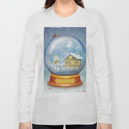 Merry christmas glass ball  Long Sleeve T-shirt