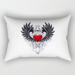 Dark angel heart Rectangular Pillow