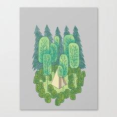 Sleeping Amongst Trees Canvas Print