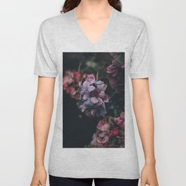 FLOWERS - FLORAL - PINK - RED - PHOTOGRAPHY Unisex V-Neck