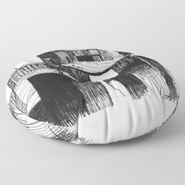 ARCHITECTURE PEN & INK DRAWING Floor Pillow
