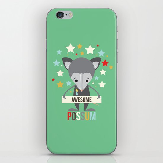 Awesome Possum iPhone & iPod Skin