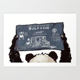 Panda Escape Plan Art Print
