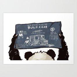 Panda Escape Plan Art Print