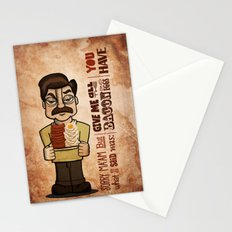 Ron Swanson 4 Stationery Cards
