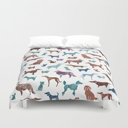 Doggies all over Duvet Cover