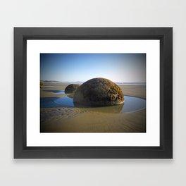 Moeraki Boulder Framed Art Print
