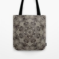 spiritual Tote Bags featuring Spiritual Mantra by Diego Tirigall