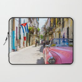 Colorful building streets in Cuba Laptop Sleeve