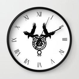 Raven - Valknut Wall Clock