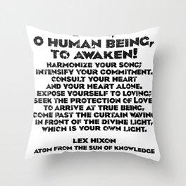 Dare, O Human Being, To Awaken Throw Pillow