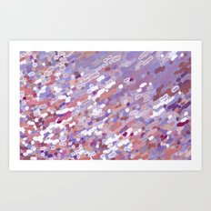 Violet Wave Reflections Art Print