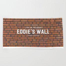 Eddie's Wall Beach Towel