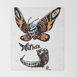 Mothra Kaiju Print Throw Blanket