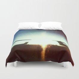 Sea-Tac At Sunset Duvet Cover