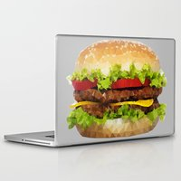hamburger Laptop & iPad Skins featuring Triangular HAMBURGER by JOlorful