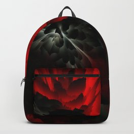 black and red rose Backpack