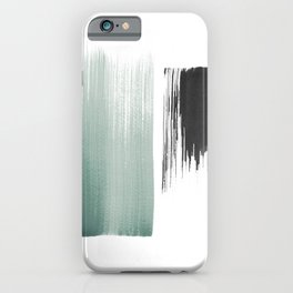sage & black iPhone Case