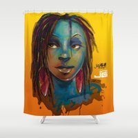 afro Shower Curtains featuring Afro Brazilian by Artist Jai