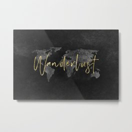 Wanderlust World Map - 54/365 Metal Print