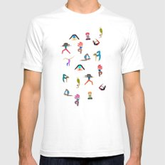 yoga lovers Mens Fitted Tee LARGE White