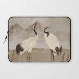 Wintering Manchurian Cranes Laptop Sleeve
