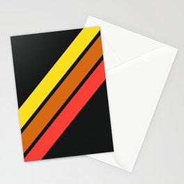 3 Retro Stripes #3 Stationery Cards