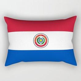 flag of paraguay -paraguyan,asuncion,spanish, south america, latin america,pan flute,coffee,forest Rectangular Pillow