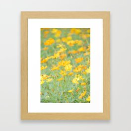 Small yellow flower Framed Art Print