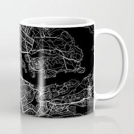 Stockholm Black Map Coffee Mug