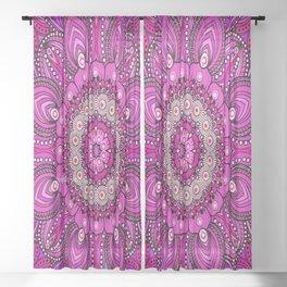 Mandala in Purples and Wines Sheer Curtain