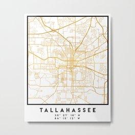 TALLAHASSEE FLORIDA CITY STREET MAP ART Metal Print