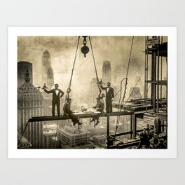 Sir, Where are your restrooms? Art Print
