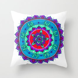 Little Mermaid Inspired Mandala Art Throw Pillow