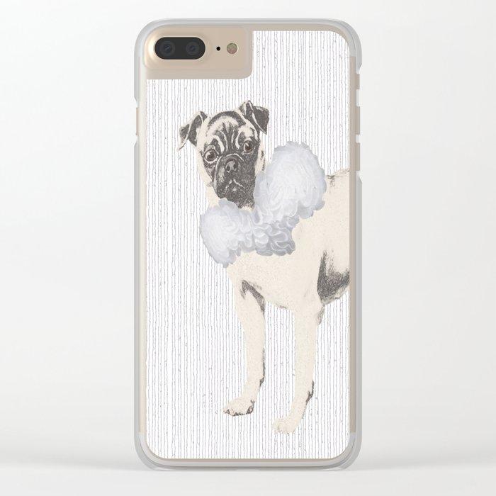 Pug in a Ruff Clear iPhone Case