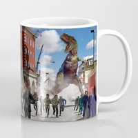 dinosaur Mugs featuring Dinosaur by Beery Method