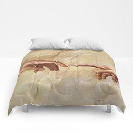 """Michelangelo """"Creation of Adam""""(detail) Comforters"""