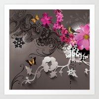 romantic Art Prints featuring Romantic by Million Dollar Design