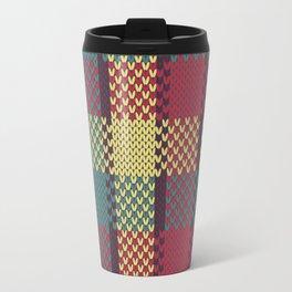 Faux Retro Gingham Travel Mug