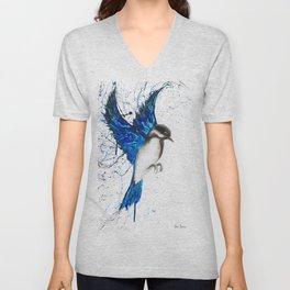 Bird Drawing Unisex V-Neck