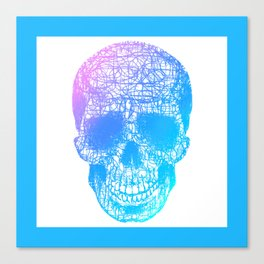 Scribble Skull Canvas Print
