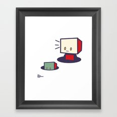 robots in holes Framed Art Print