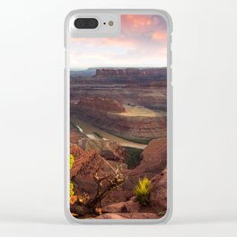 Dead Horse Point Sunset, Utah Clear iPhone Case