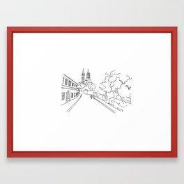 K rotundě, Praha 2, Czech Republic Framed Art Print