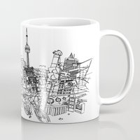 toronto Mugs featuring Toronto! by David Bushell