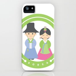 Seoul - Koreans in Traditional Costumes iPhone Case