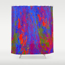 Swimming in Lava Shower Curtain