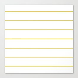 THIN MUSTARD STRIPE Canvas Print