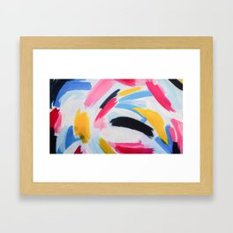 Whirpool of color Framed Art Print