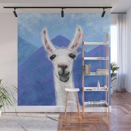 Llama Yama Smiling Wall Mural